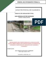 Texto Perfil Puente Venecia Cajamarca