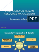 IHRM-Compensation & Benefits