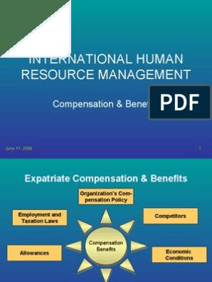 compensation management in hrm pdf