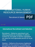 IHRM-Recruitment & Selection