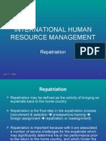 IHRM-Repatriation