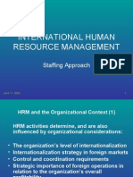 IHRM-Staffing Approach