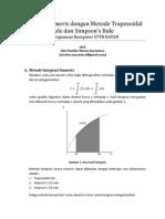 2 Metode Integrasi Trapezoidal Dan Simpson