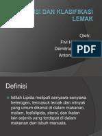 Definisi Dan Klasifikasi Lemak