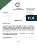 Wayne County Prosecutor News Updates June 15 - June 21, 2014