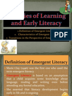 Theories of Learning and Early Literacy