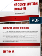 Philippine Constitution bill of rights section III 3