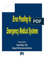 Error Proofing for EMS