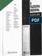 A Filosofia Medieval Alain de Libera