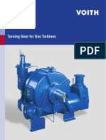 Turning Gear for Gas Turbines