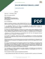 Ley Organica de Servicio Publico, Losep