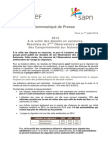 SANEF - CP Observatoires 2014