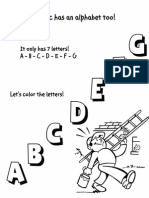 Color the Musical Alphabet!