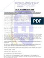 CIRCULAR SOBRE reducción del 2 1e IRPF para los funcionarios.-