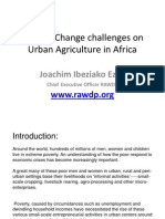 Climate Change Challenges on Urban Agriculture in Africa