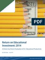 Return on Educational Investment, 2014