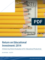 Return on Educational Investment, 2014