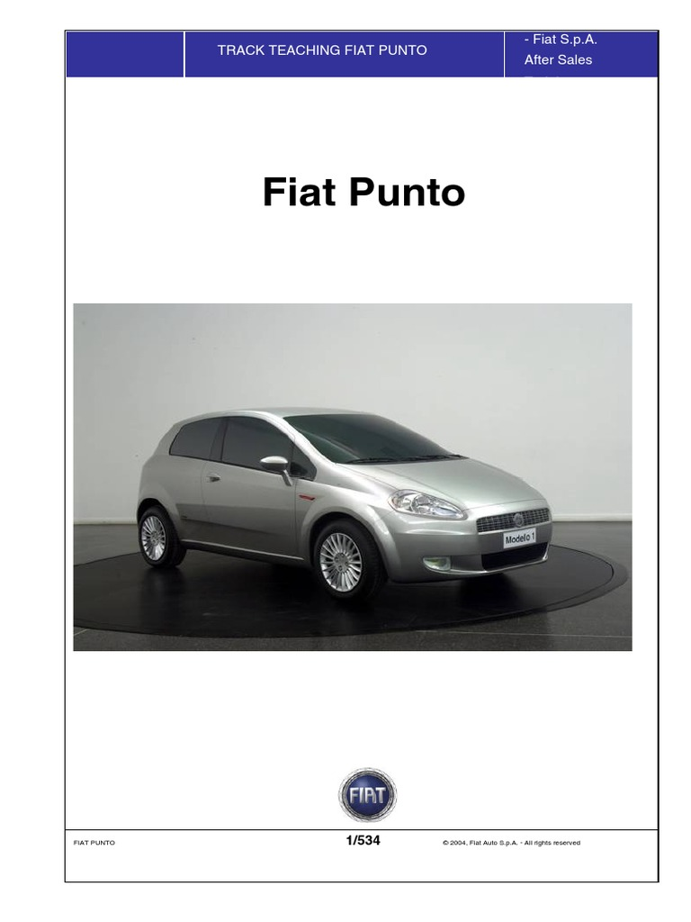 fiat grande punto service manual translated airbag loudspeaker rh scribd com Fiat Punto 2002 2015 Fiat Punto