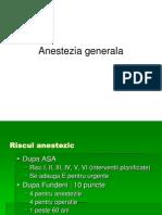 Anestezia Generala.ppt.Farmacologie, Clinica