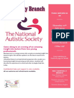 Poster for Speakers Night for NAS Cymru Caerphilly Branch