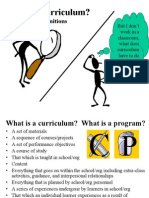 Curriculum Defined and History