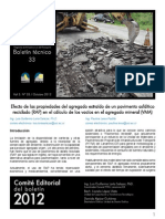 2012 Boletín 33 Efecto de Las Propiedades Del Agregado Extraído de Un Pavimento Asfáltico