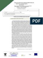 Ficha de Recuperação de Segmentos- Textos Narrativos e Descritivos II Módulo 12