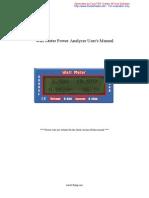 Watt Meter Power Analyzer User