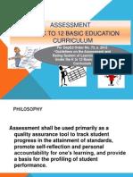 Assessment for the TOT Grade 3