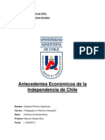 Antecedentes Economicos de La Independencia de Chile