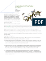 Buy Peptides – Large Applications and Purity Testing