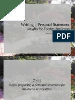 PersonalStatement Presentation