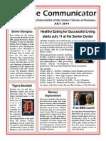 Communicator Senior Newsletter - July 2014