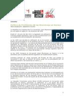 Política de Prohibición de Las Municiones en Racimo - en Colombia