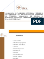 Metodología Para La Estrategia de Planeación Estratégica y Código de Ética