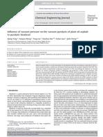 Influence of vacuum pressure on the vacuum pyrolysis of plant oil asphalt to pyrolytic biodiese