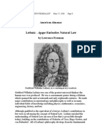 Leibniz - Agape Embodies Natural Law
