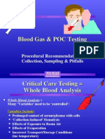 Blood Gas Recommendations & Problems