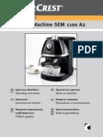 Silvercrest Espresso Machine SEM 1100 A2 66926