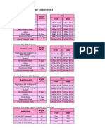 Academic Calendar 2013