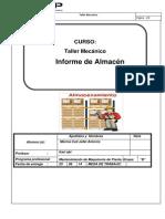 Informe Almacen Taller Mecanico