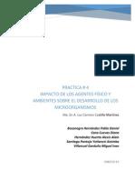 IMPACTO DE LOS AGENTES FÍSICO Y AMBIENTES SOBRE EL DESARROLLO DE LOS MICROORGANISMOS