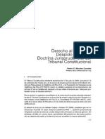 Derecho Al Trabajo y Despido Arbitrario Doctrina Jurisprudencial Del TC