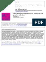 Using Gender Analysis Framework