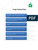 Energy Saving Steps