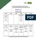 Horário Das Disciplinas 2º Periodo CSE 2014