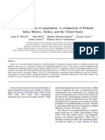 Cultural Tendencies in Negotiation- A Comparison of Finland Indi