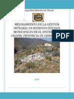 PIP Residuos Solidos - Chavin RV03