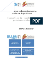 La Innovación en La Enseñanza Como Resolución de Problemas LIBEDINSKY IEARN20141 de Julio 2014