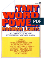 Instant Word Power - Norman Lewis